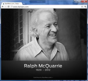 ادای احترام به رالف مککواری طراح هنری جنگ ستارگان